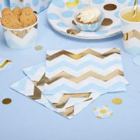 Pattern Works Blue Chevron Napkins (16)
